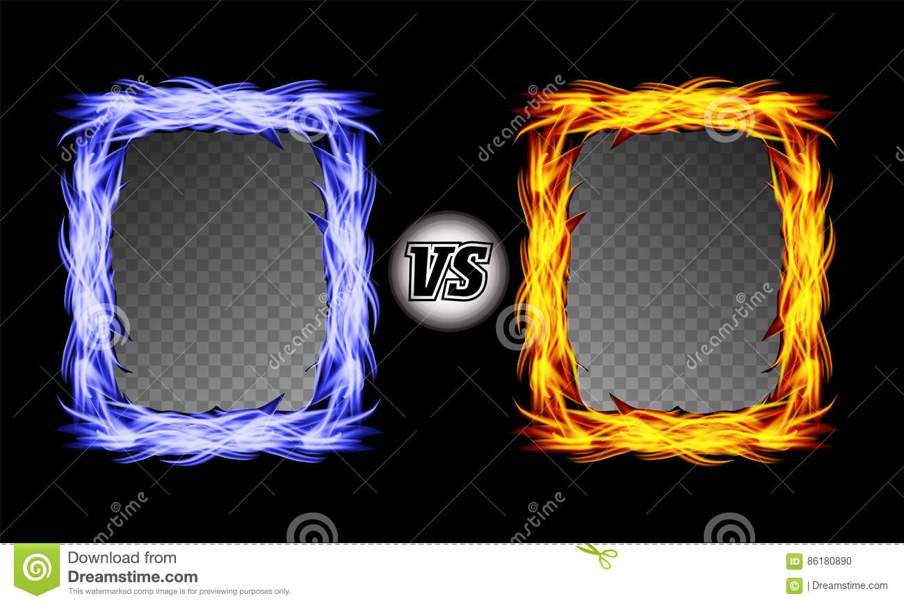 Background image vs background - Versus Vector Symbol With Fire Frames Vs Letters Flame Fight Background Design Competition