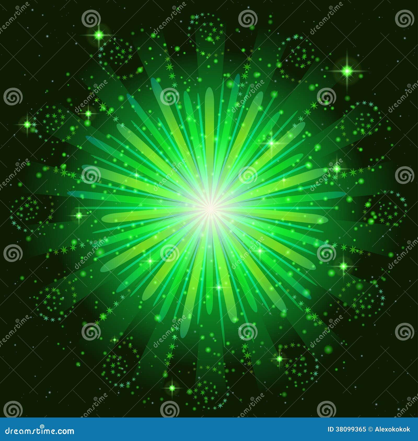 vert de feu dartifice illustration de vecteur image du