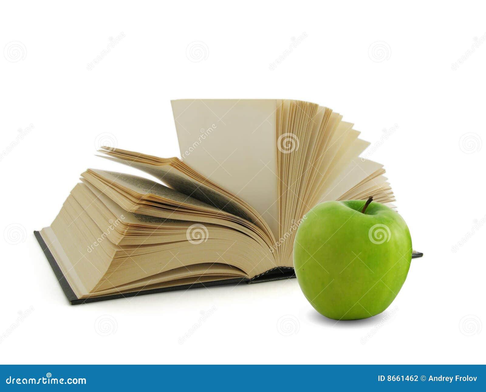 Vert de livre de pomme