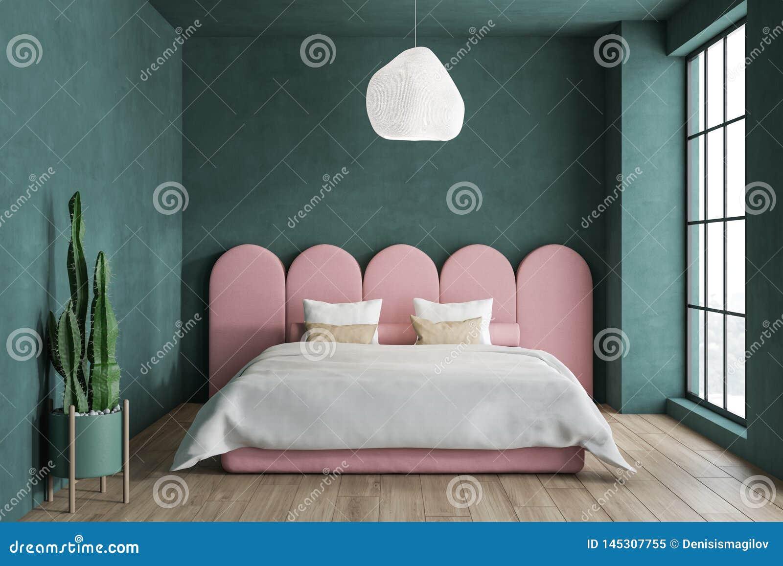 Vert De Minimalistic Et Chambre ? Coucher Rose Illustration Stock ...
