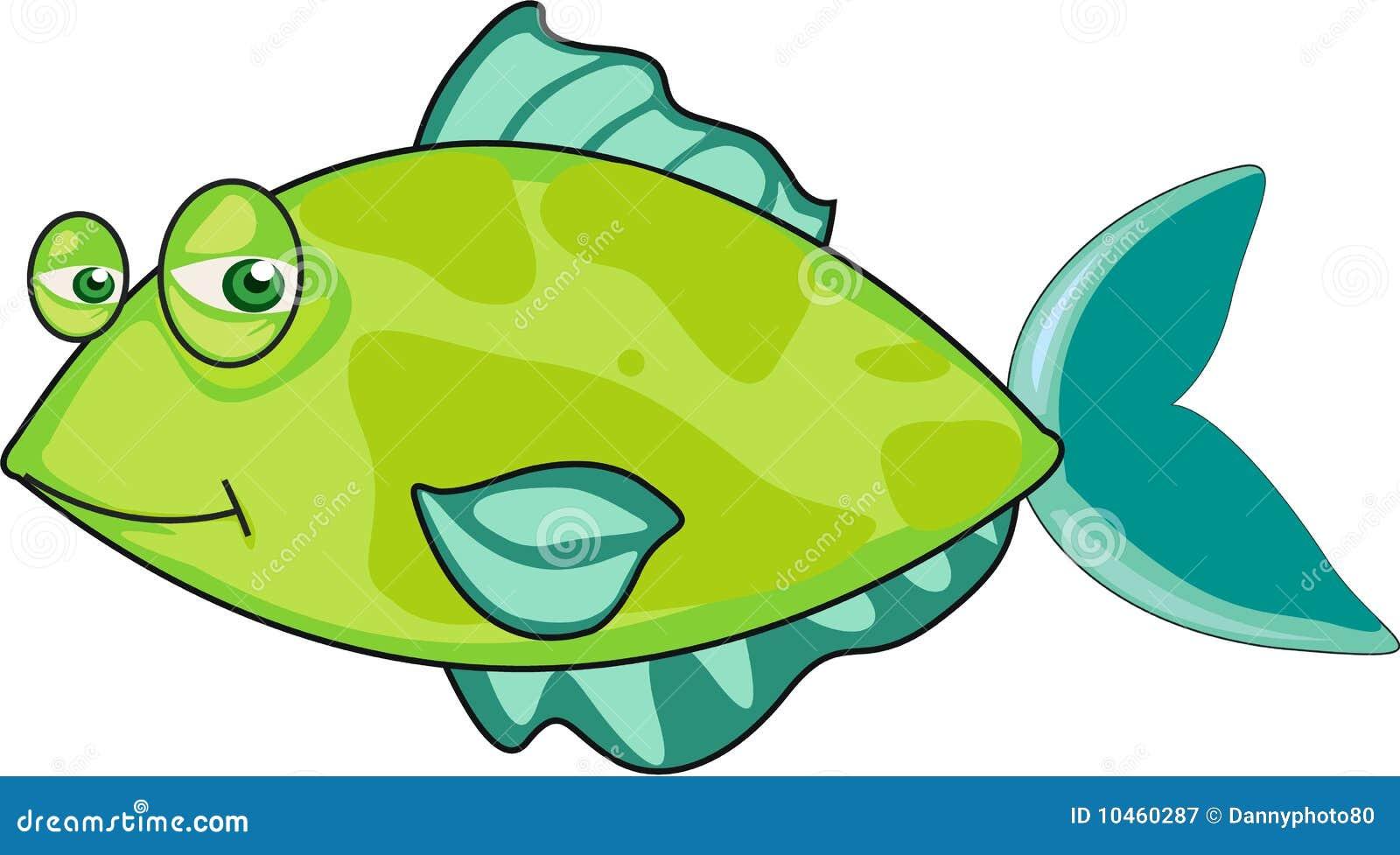 Vert de poissons illustration de vecteur image du retrait - Poisson dessin couleur ...