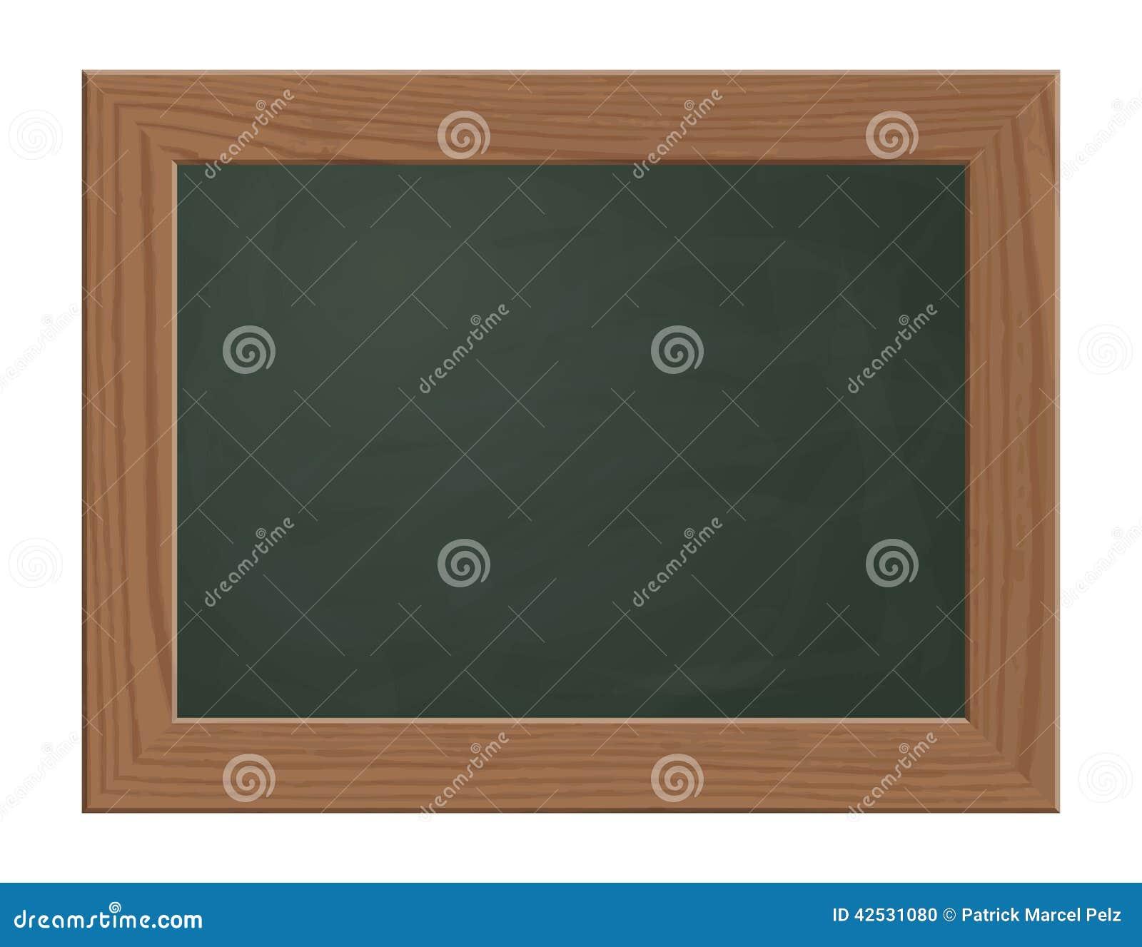 Vert de tableau noir d 39 ardoise avec le cadre en bois for Tableau noir en bois
