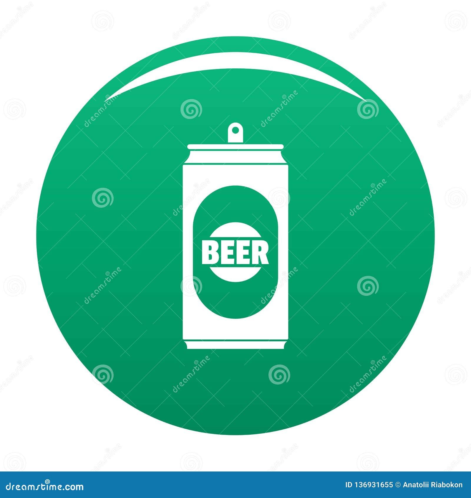 Vert de vecteur d icône de canette de bière