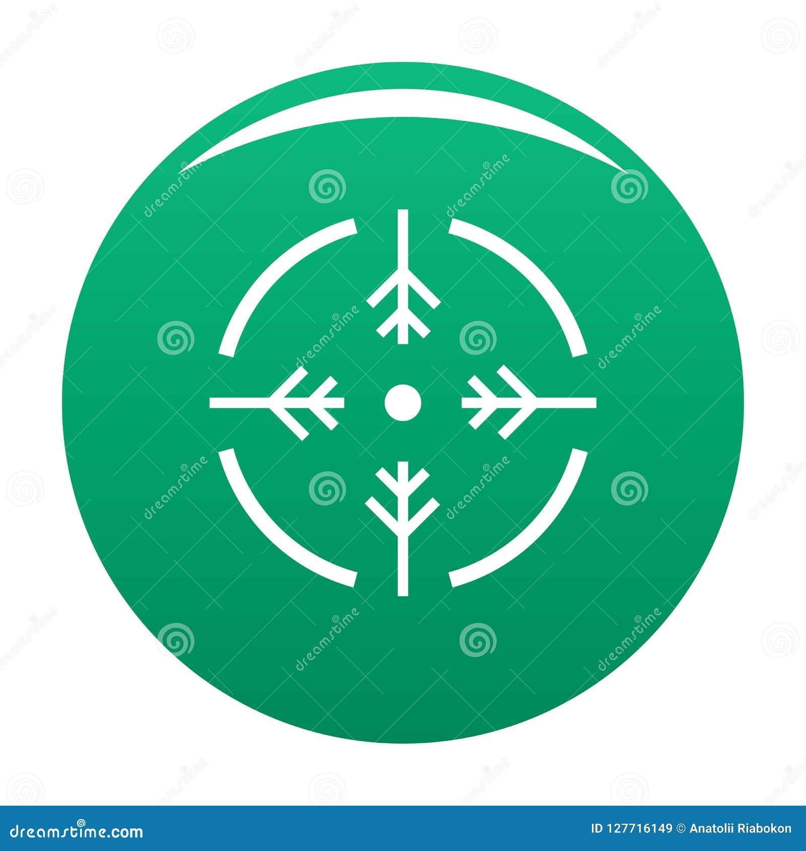 Vert de vecteur d icône de cercle de pousse
