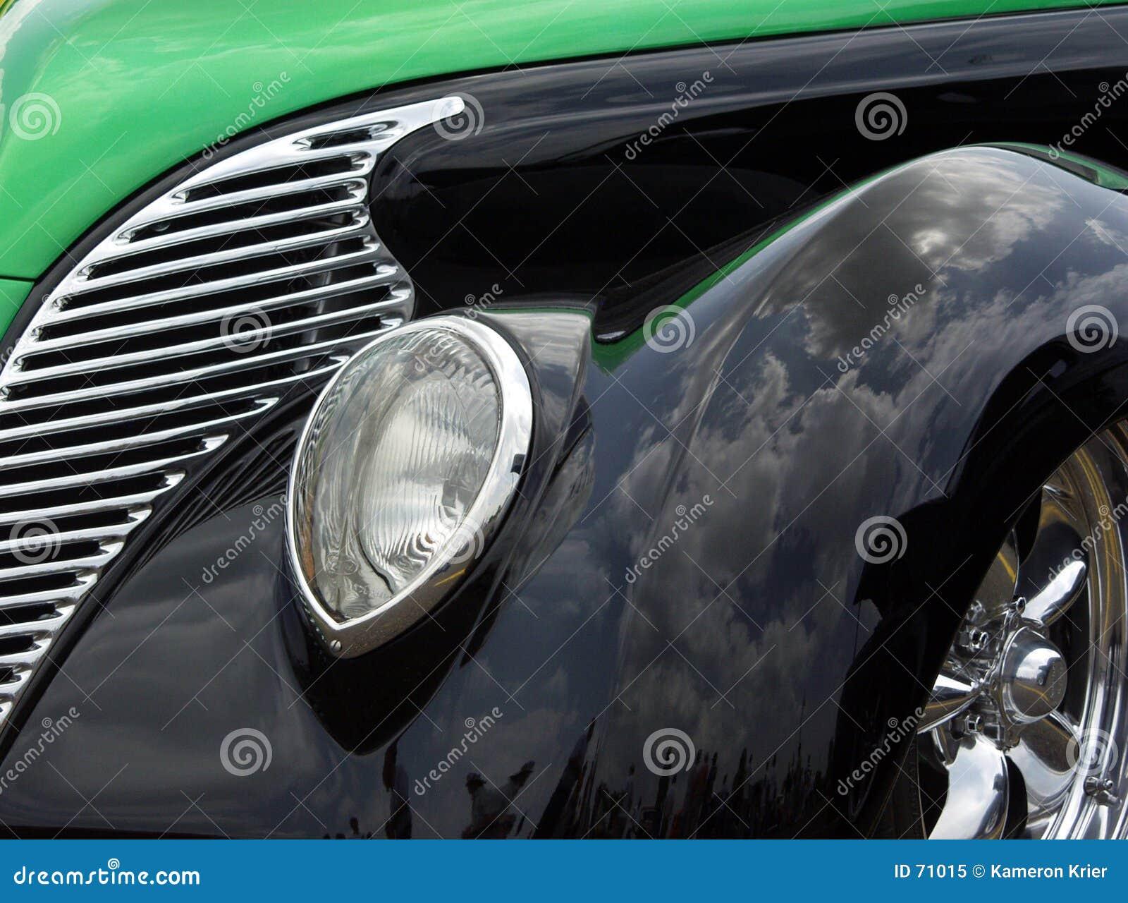 Vert et noircissez 38 Ford