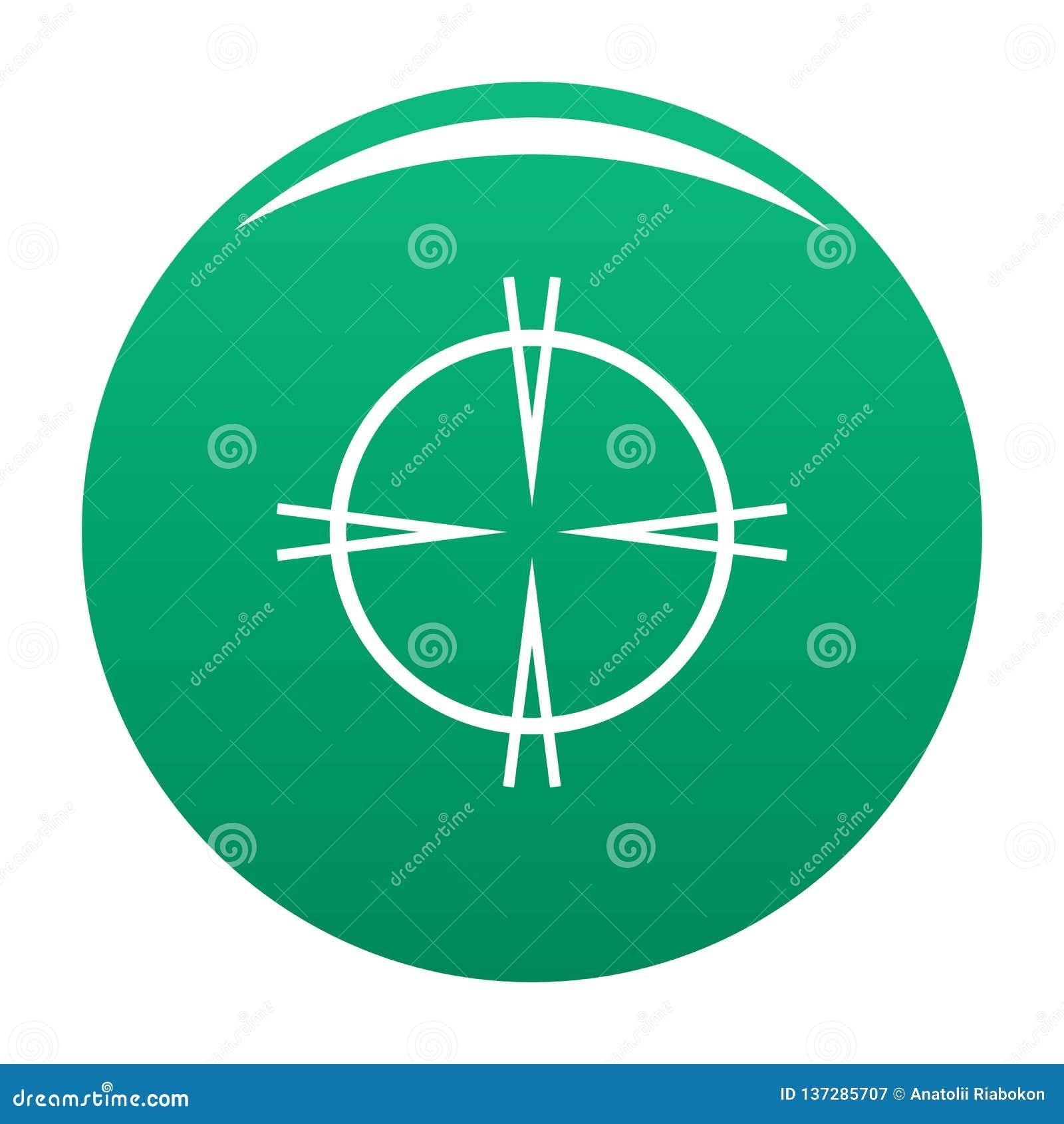 Vert focal de vecteur d icône de cible