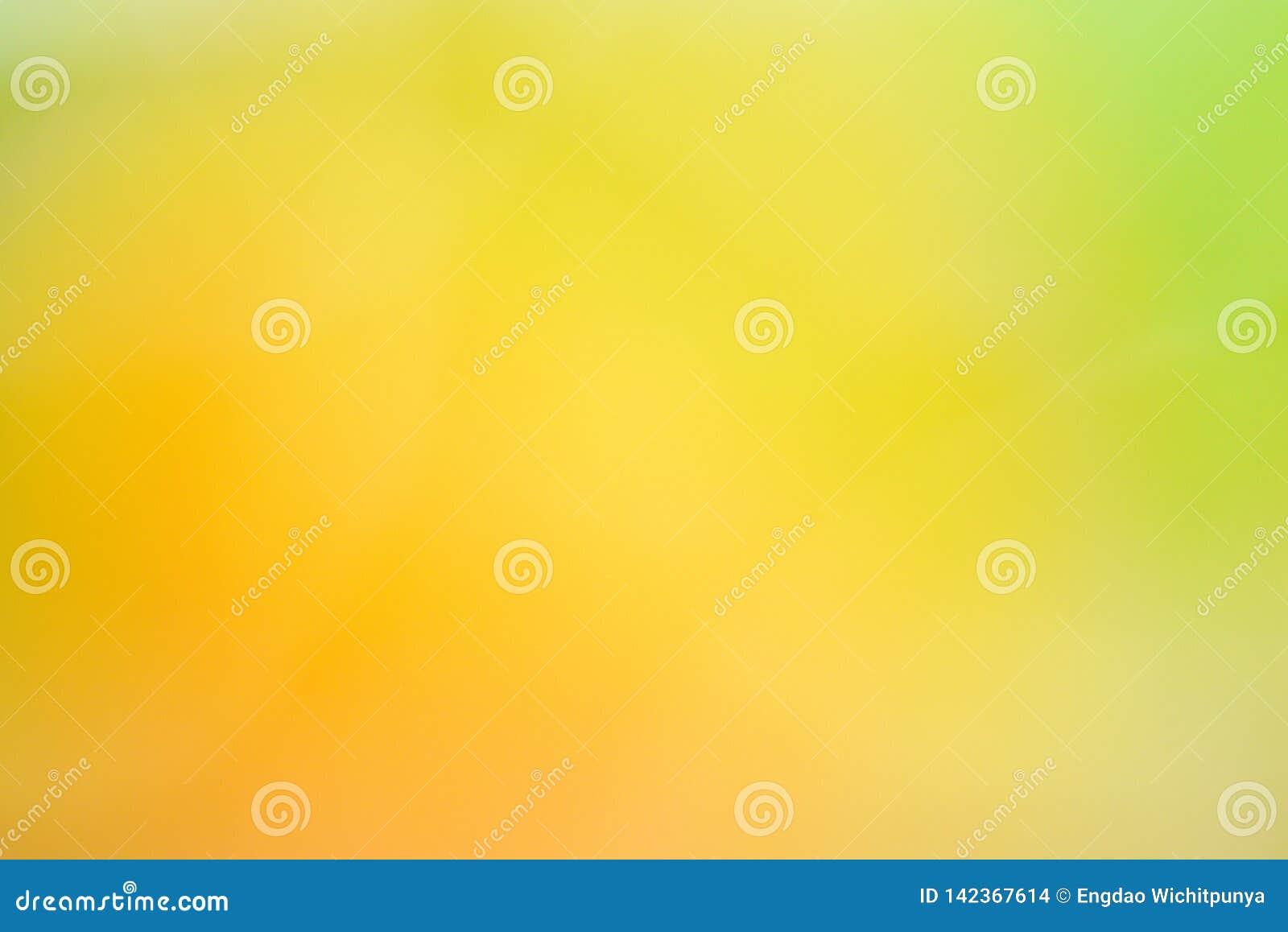 Vert jaune abstrait de fond de texture de tache floue de nature
