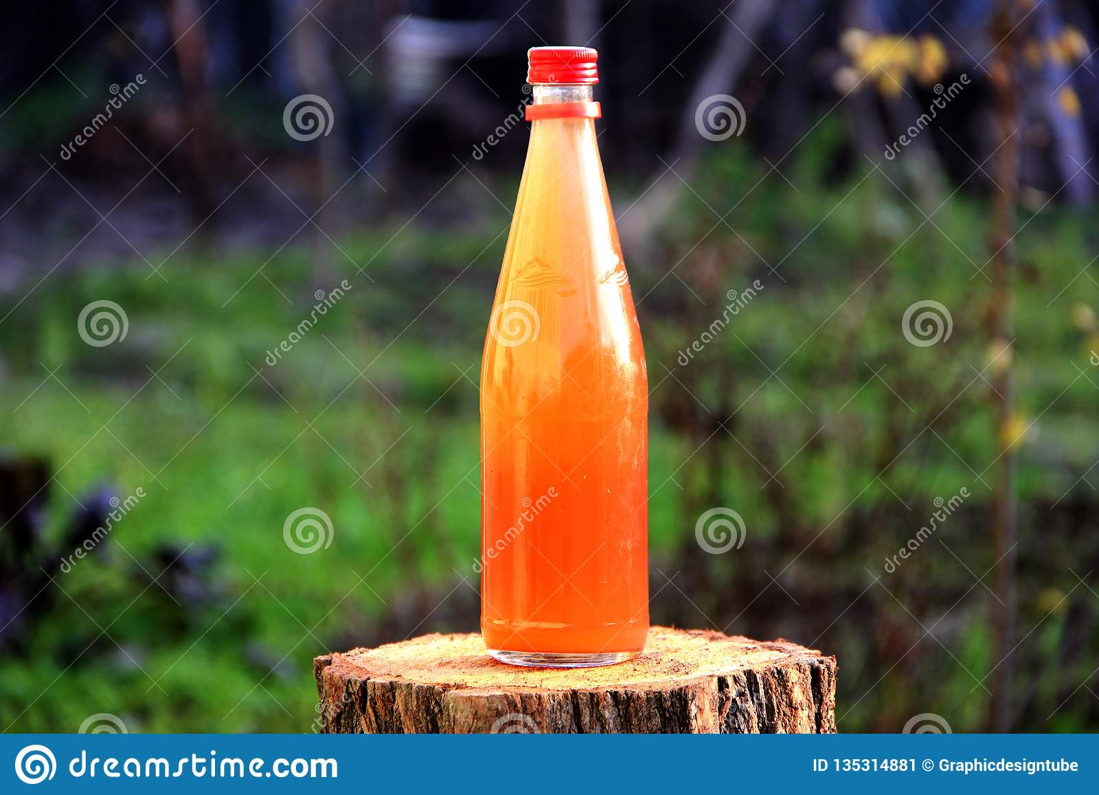 Vert naturel de bouteille de boisson de conserves au vinaigre de raisin