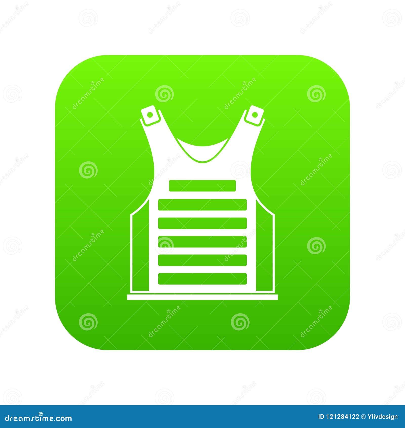 Vert numérique d icône de gilet de Paintball