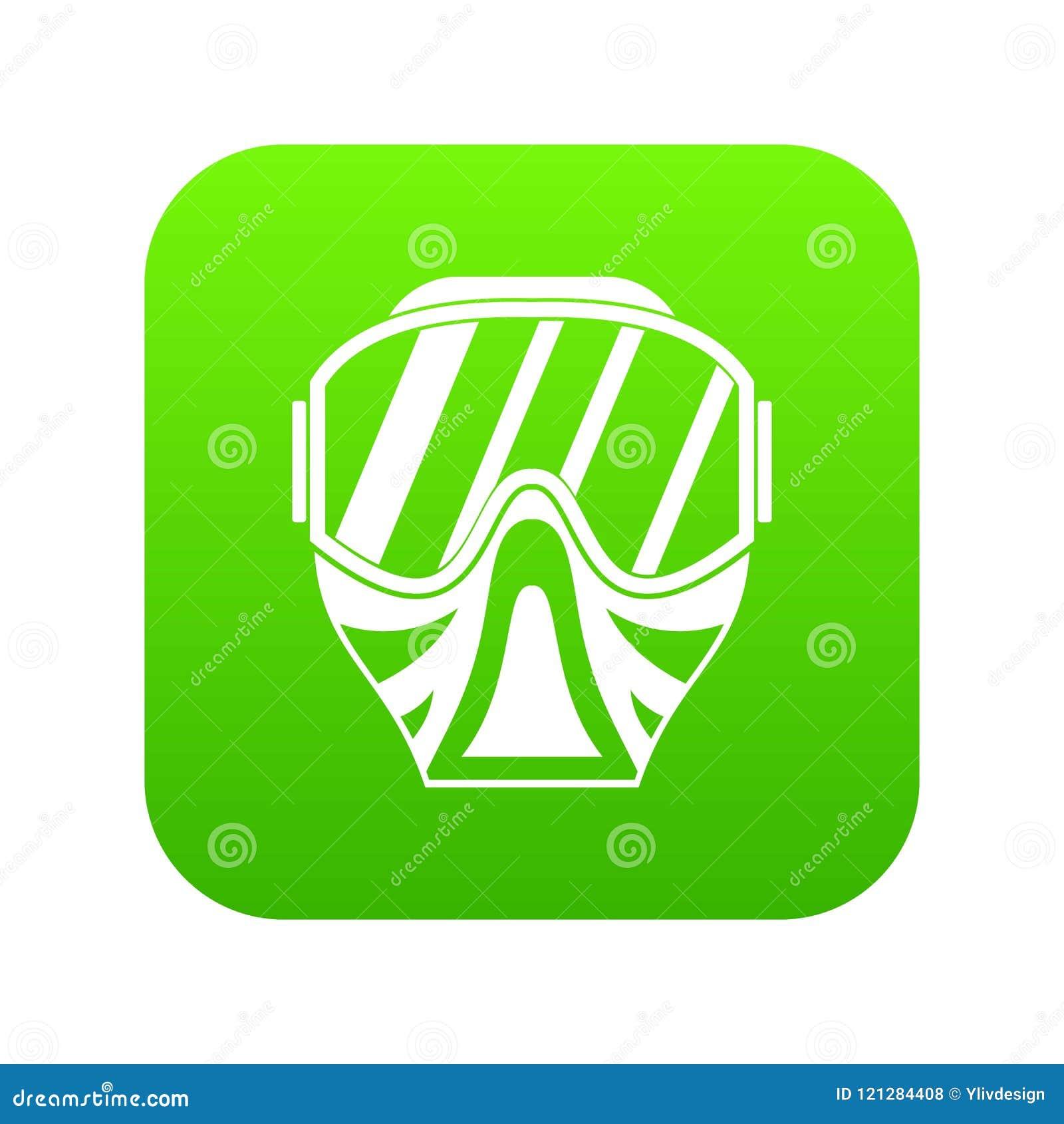 Vert numérique d icône de masque de Paintball