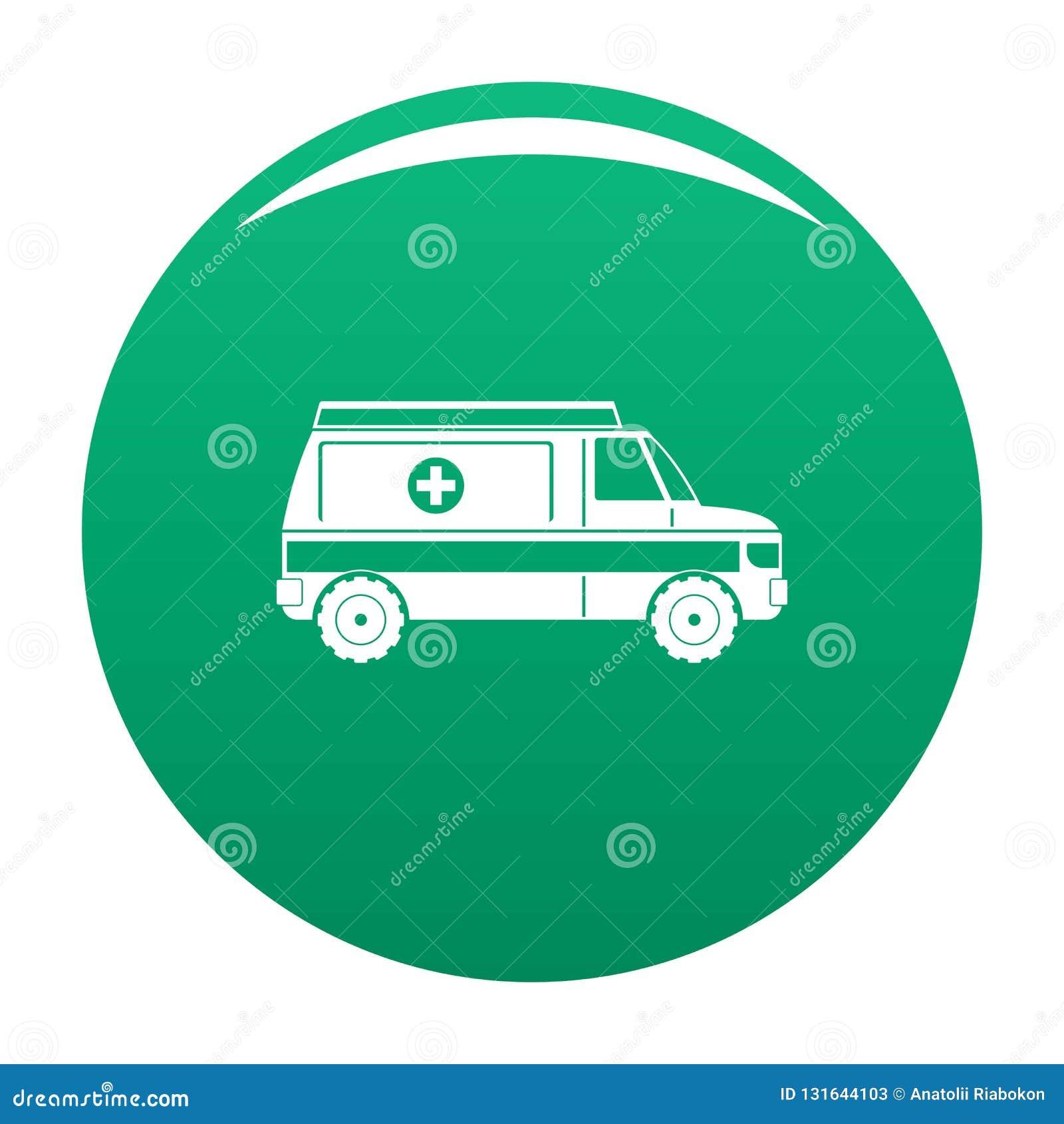 Vert rapide de vecteur d icône d ambulance