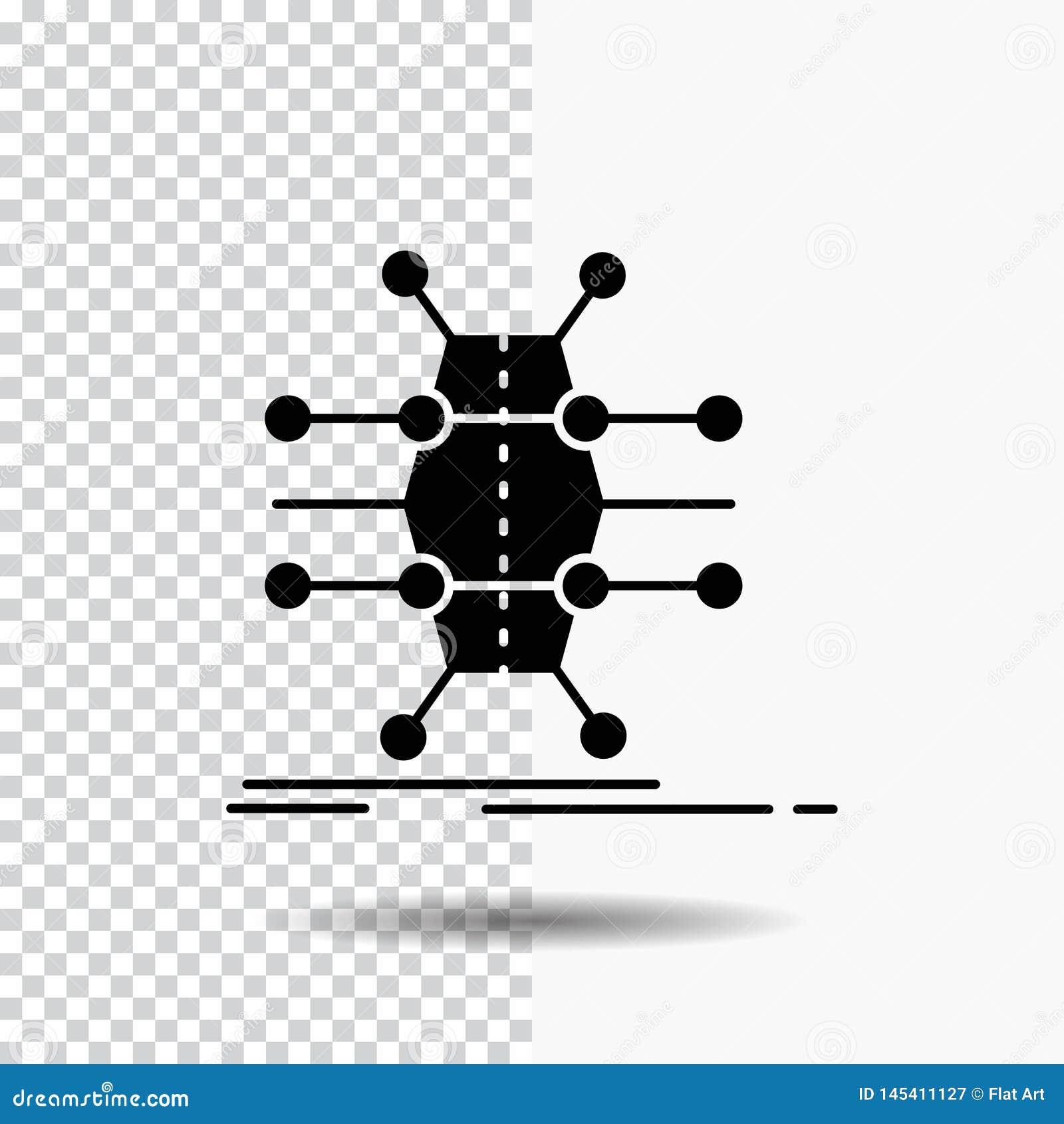 Verteilung, Gitter, Infrastruktur, Netz, intelligente Glyph-Ikone auf transparentem Hintergrund Schwarze Ikone