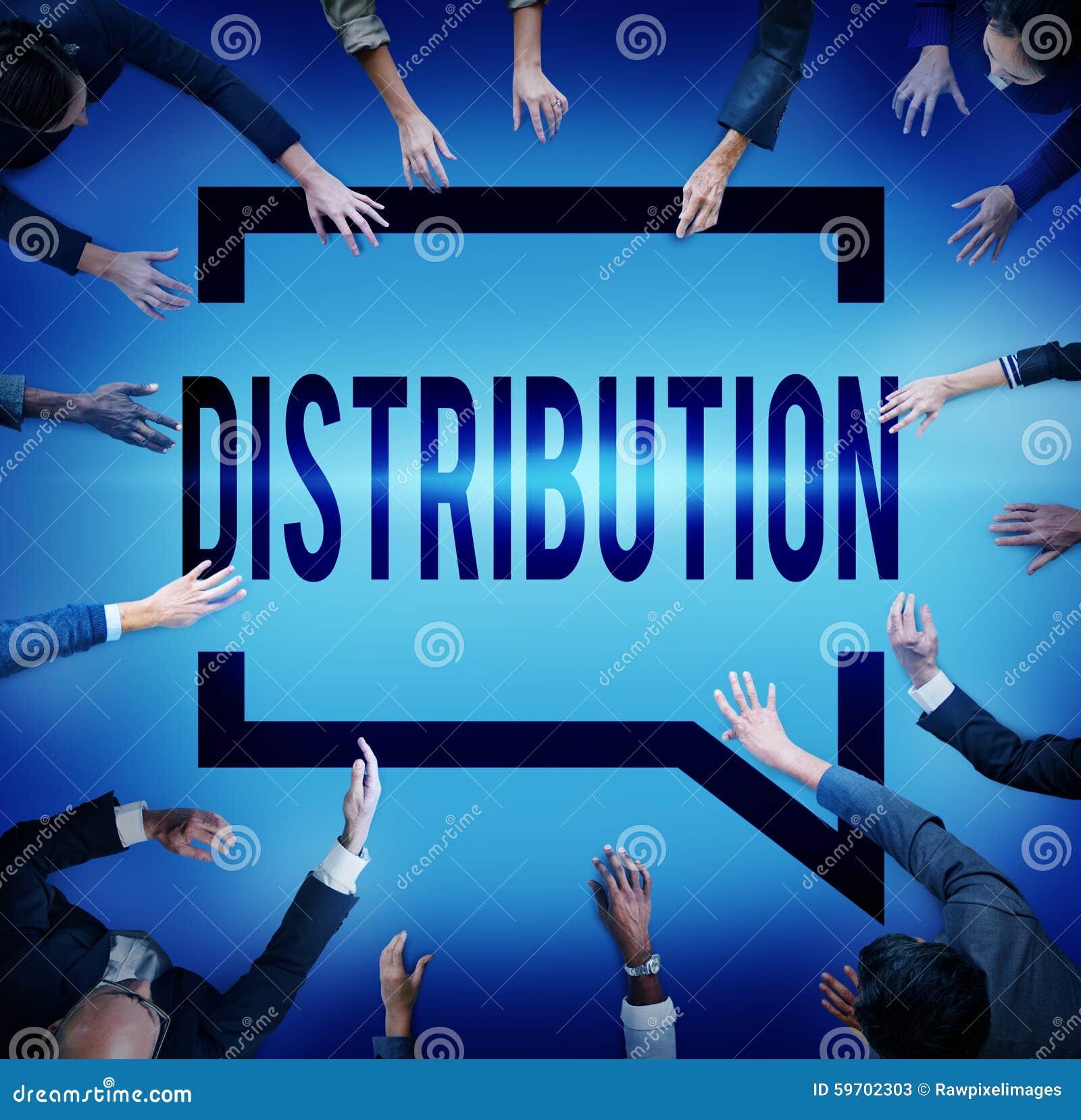 Verteilungs-Verkaufs-Marketing-Verteiler-Strategie-Konzept