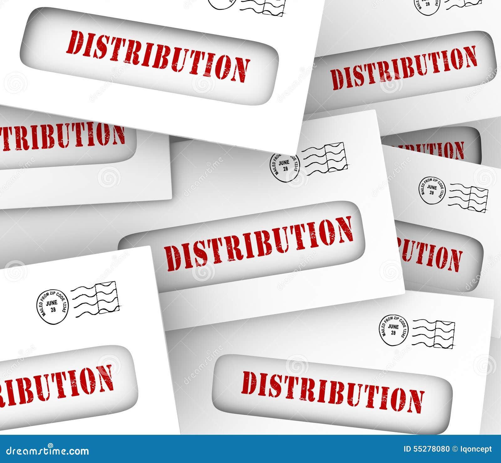 Verteilungs-Wort-Umschläge, die Geld-Zirkulation teilend senden