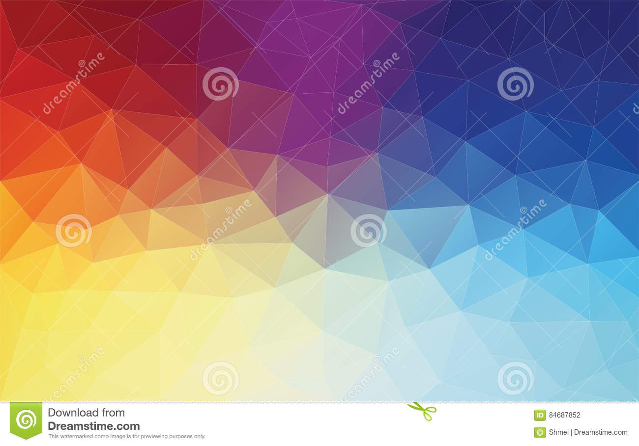 7x10 FT Vinyl Photography Background Backdrops,Lively Mixture of Colors with Connected Abstract Triangle Shapes Geometry Design Background for Selfie Birthday Party Pictures Photo Booth Shoot