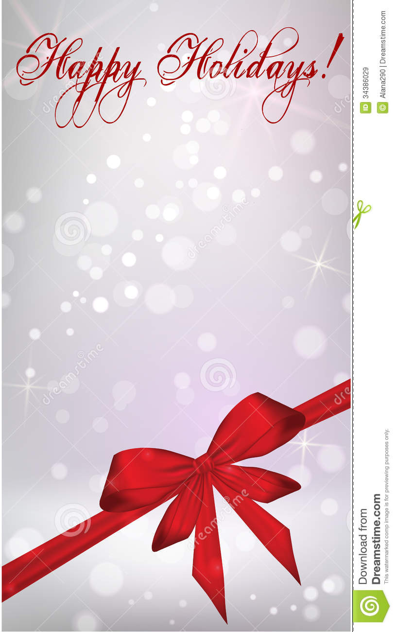 Vertical Background With Red Ribbon Bow Stock Vector ...