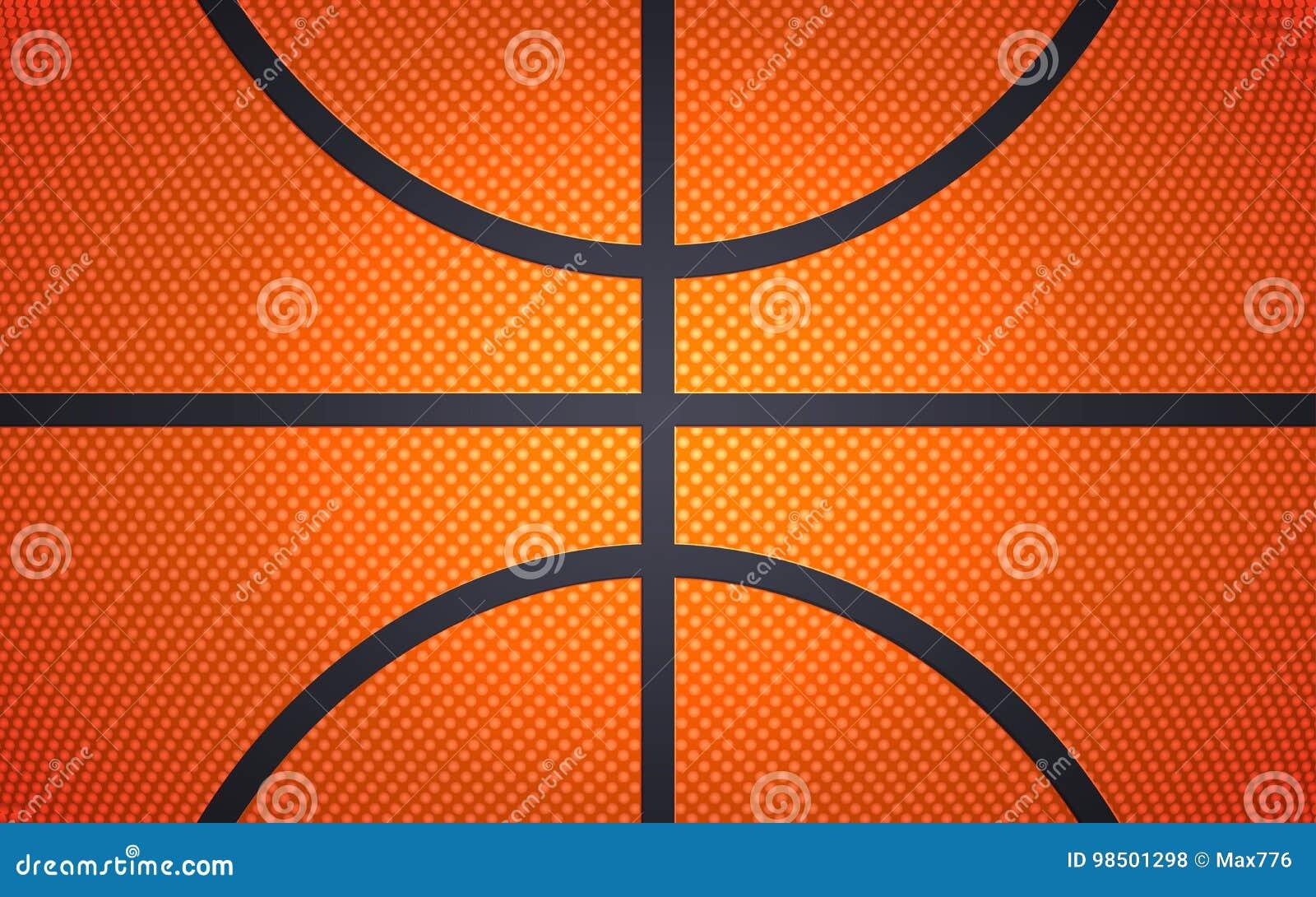 Vertical ball texture for basketball, sport background, vector illustration