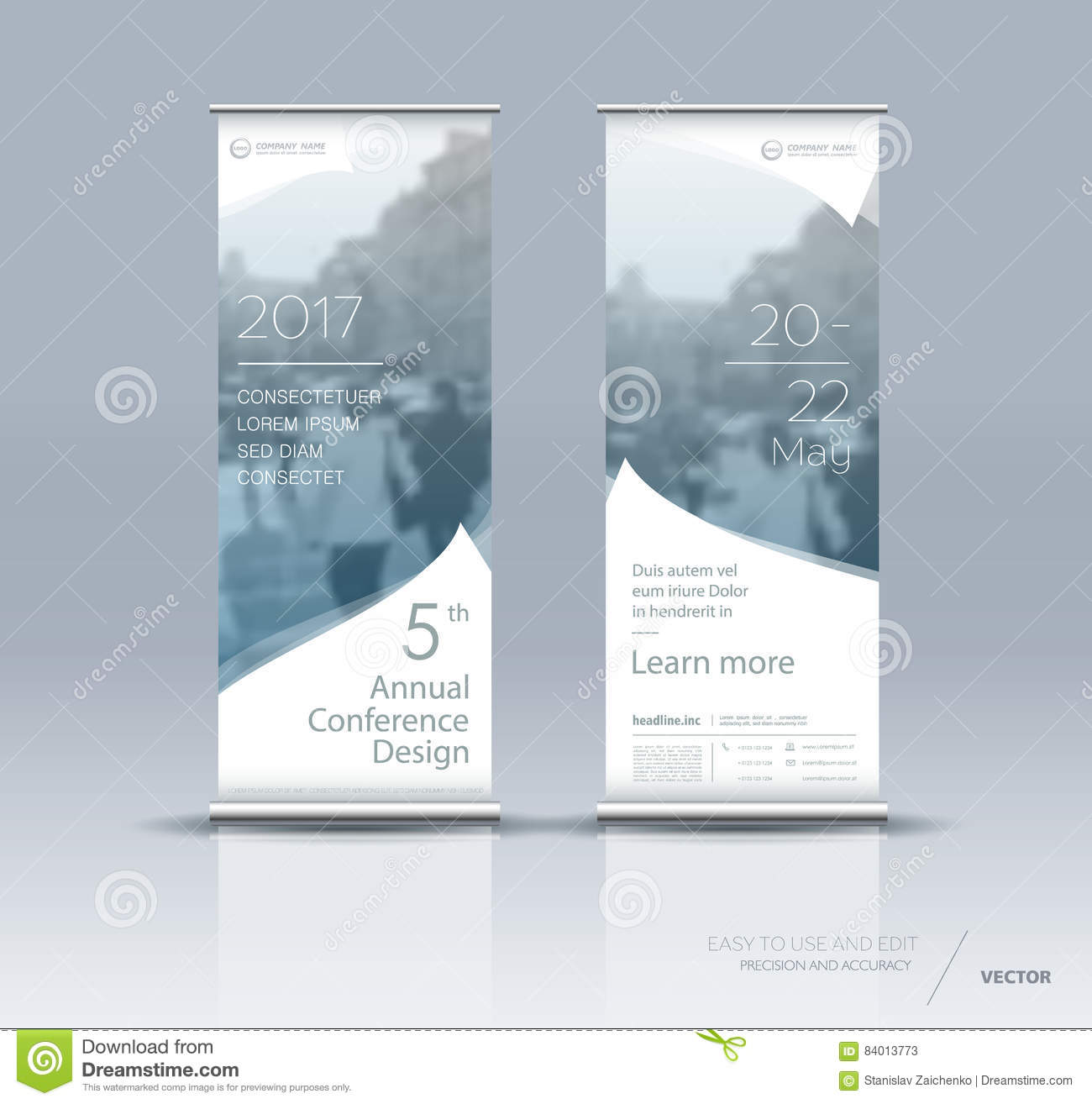 Vertical Banner Template Design Stock Vector Illustration Of