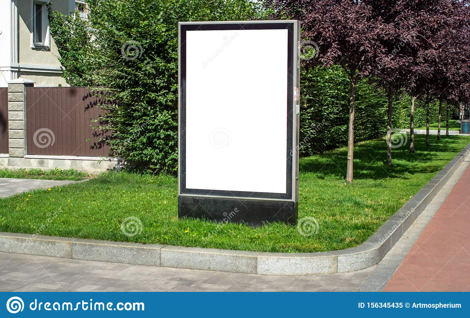 Vertical billboard or citylight outdoor