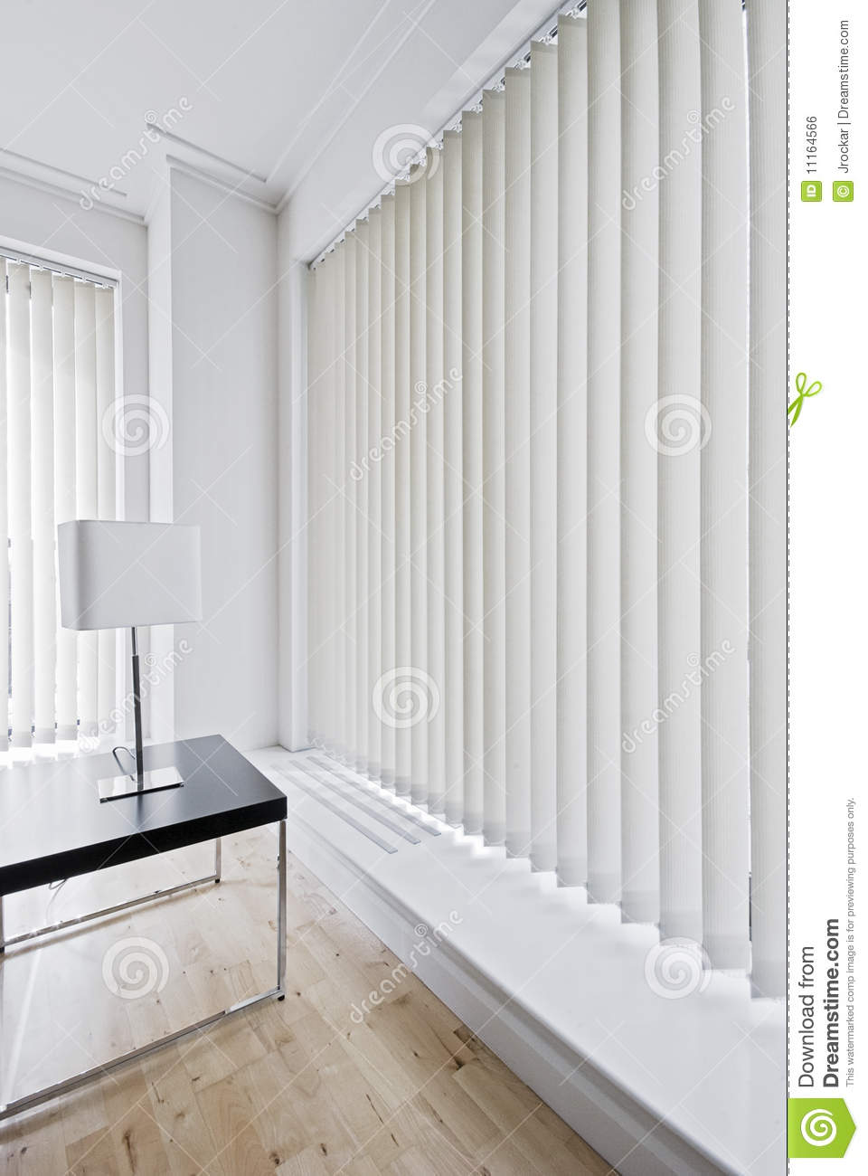 Vertical Blinds Stock Photo Image Of Creme Metal Fabric