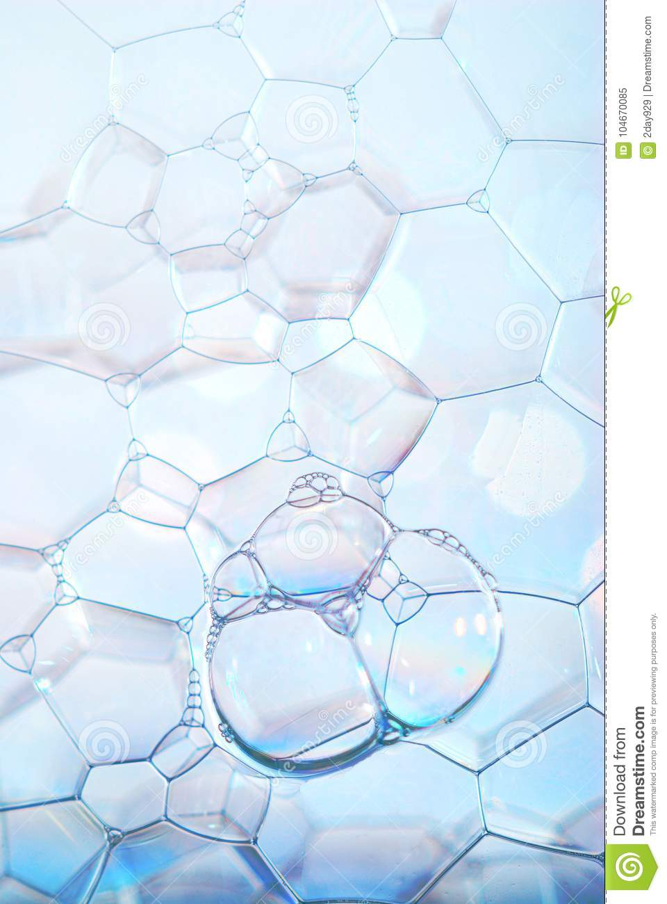 Vertical blue bubble wall, background