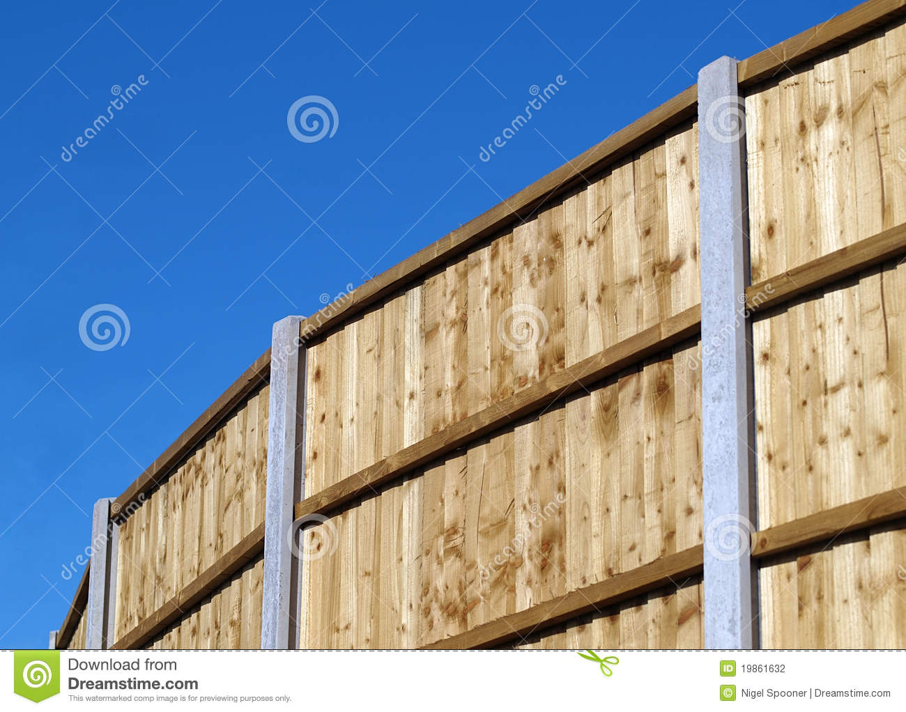 Vertical Board Fence Panel Stock Photography Image 19861632