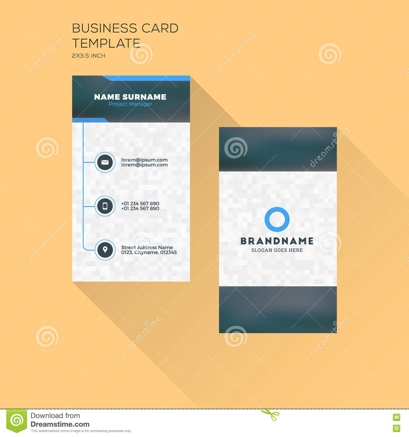 Vertical business card print template personal business card wi vertical business card print template personal business card wi fbccfo Gallery