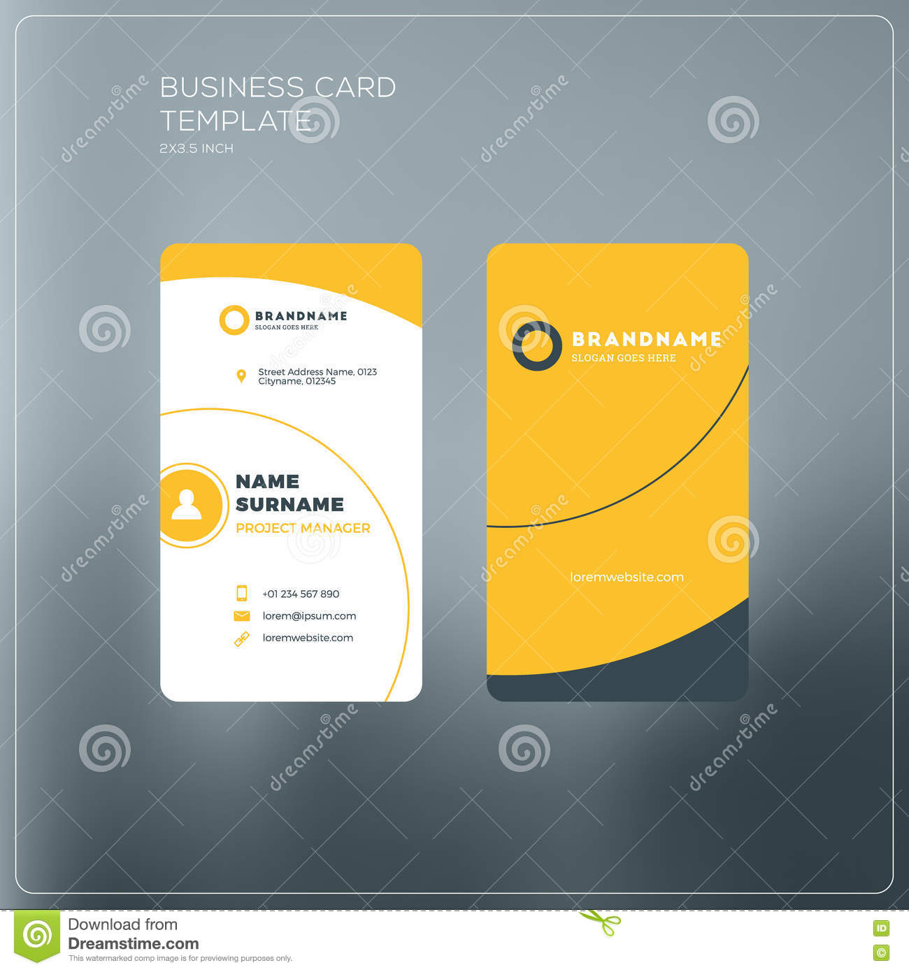 Vertical business card print template personal business card wi vertical business card print template personal business card wi clean identity flashek Gallery