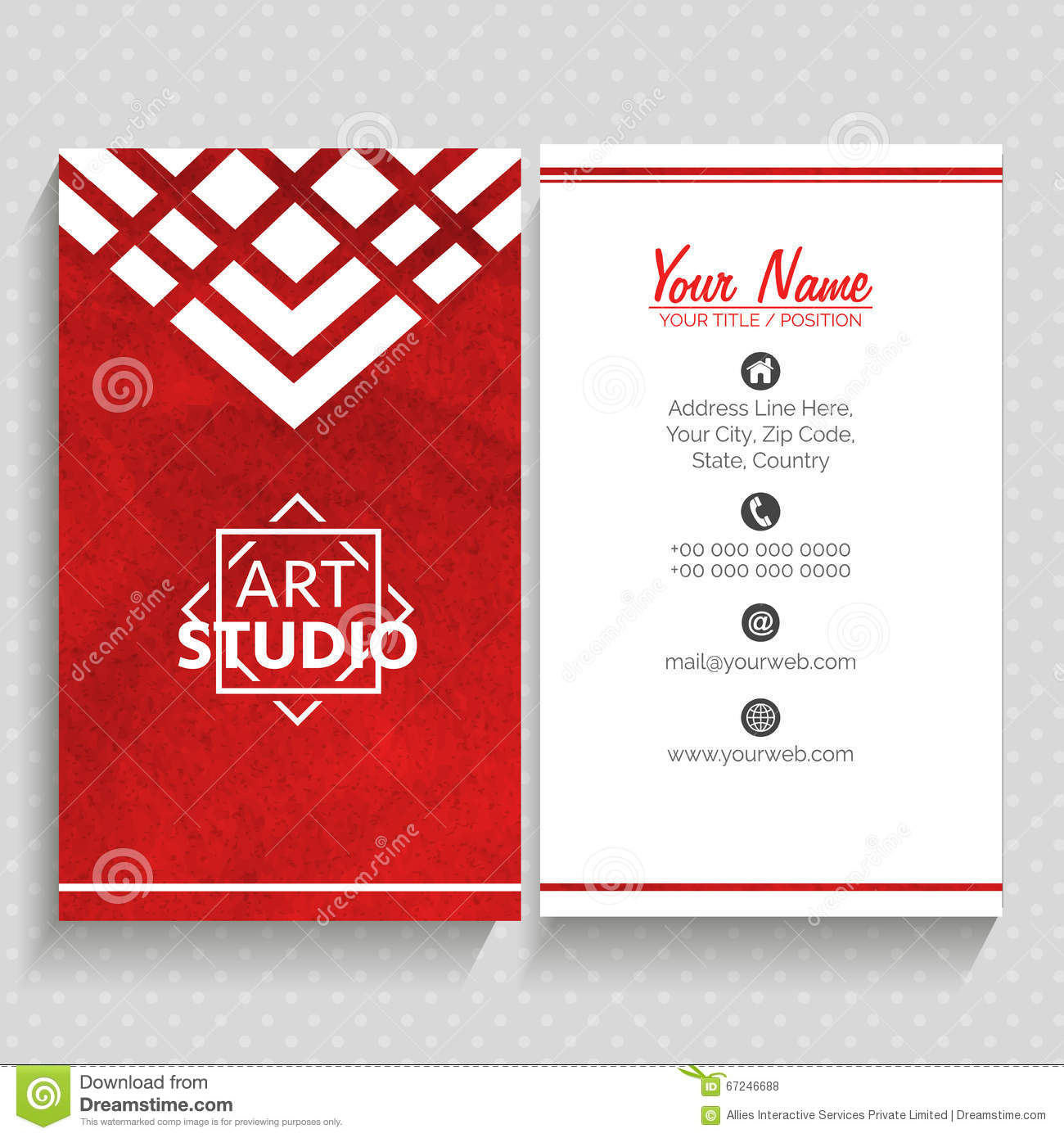 Vertical business card or visiting card stock illustration vertical business card or visiting card royalty free stock photos reheart Choice Image