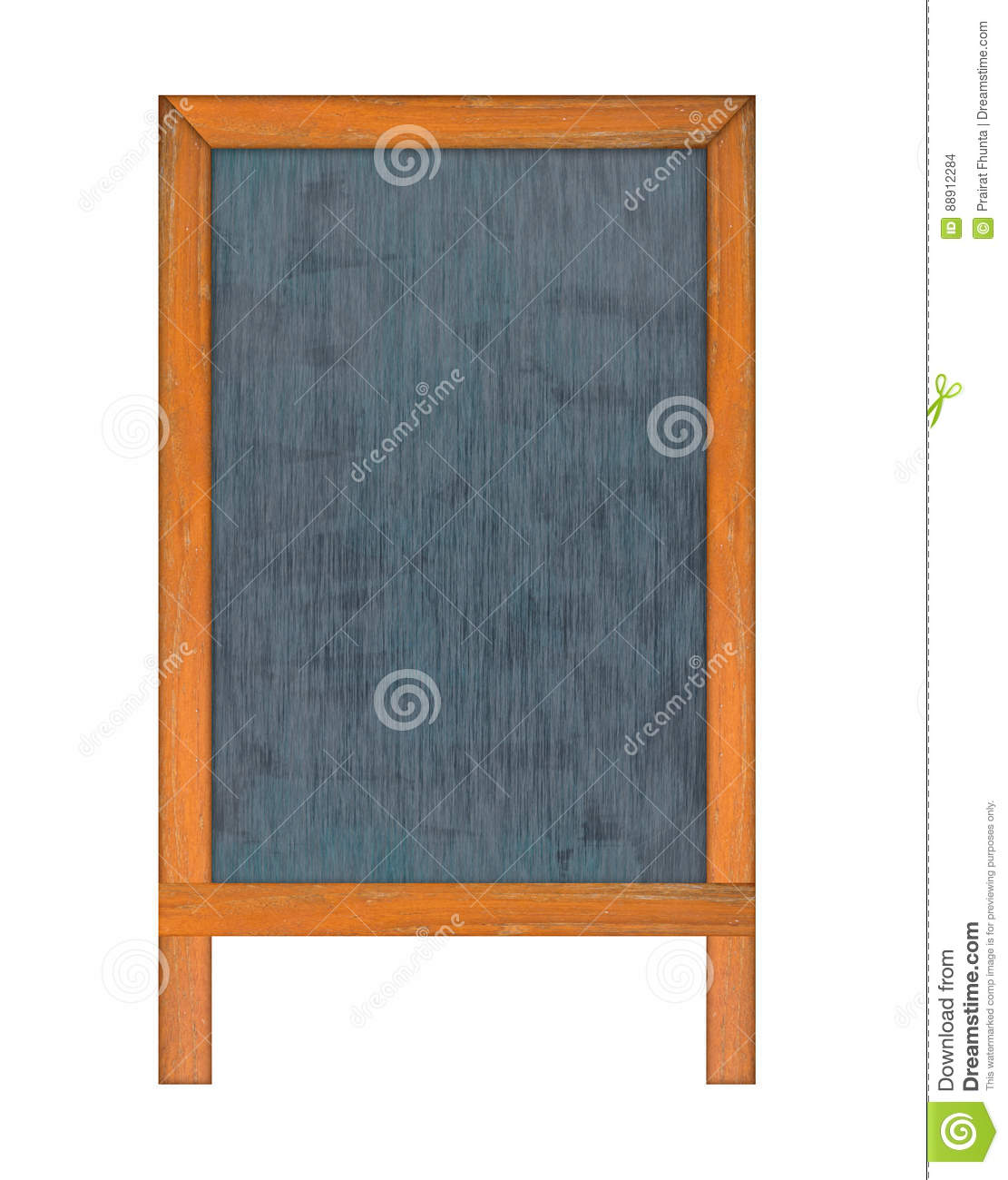 Vertical Chalkboard. Stock Photo. Image Of Counter