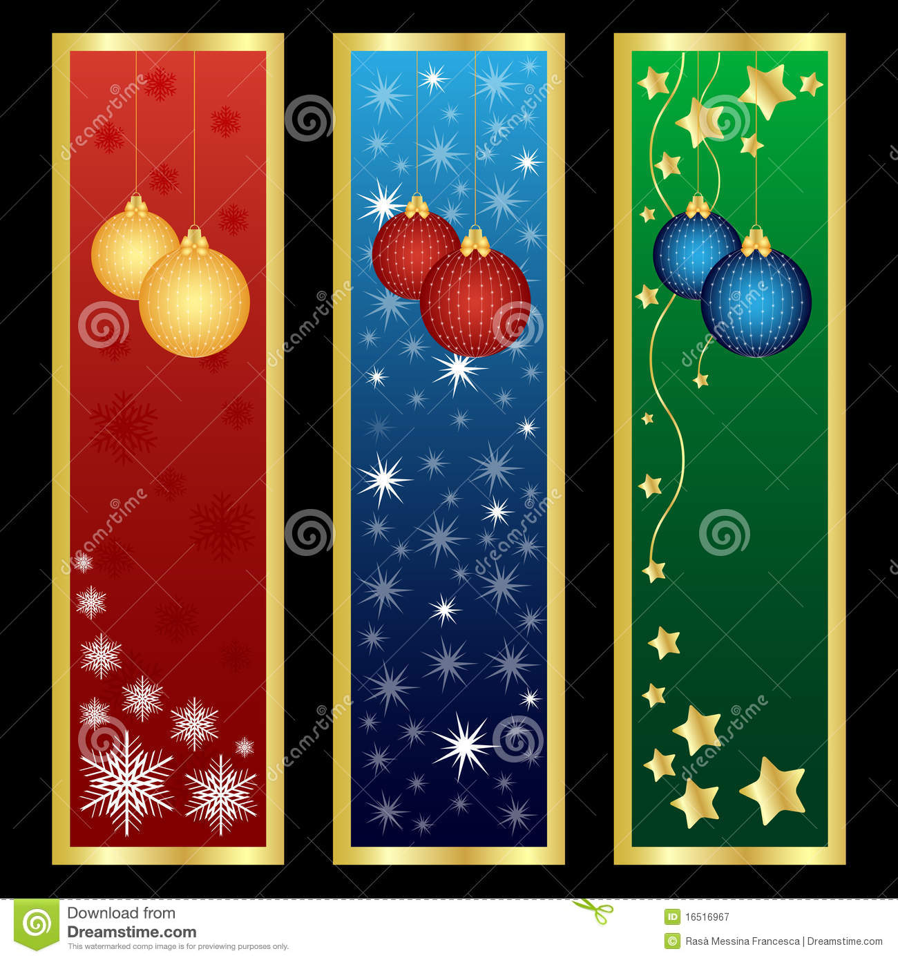 Vertical christmas banners royalty free stock photography image