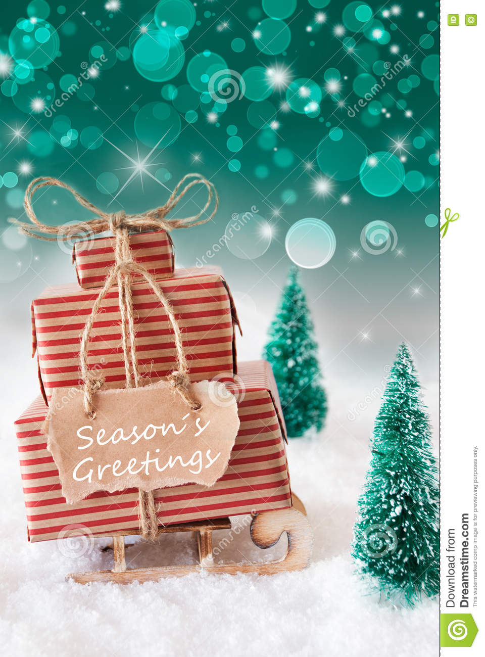 Vertical christmas sleigh on green background text seasons royalty free stock photo kristyandbryce Image collections