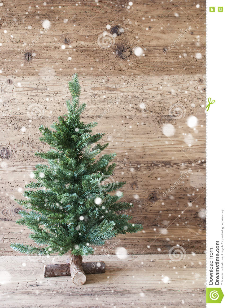 Vertical Christmas Tree Aged Wooden Background Snowflakes Shabby Chic Stock Image Image Of White Aged 77864429