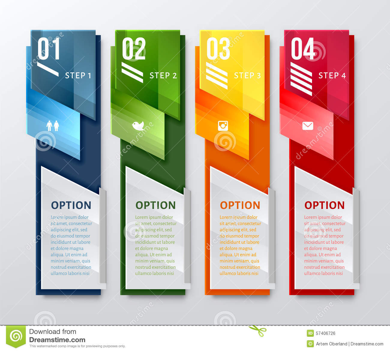 navigation vertical banners vector illustration