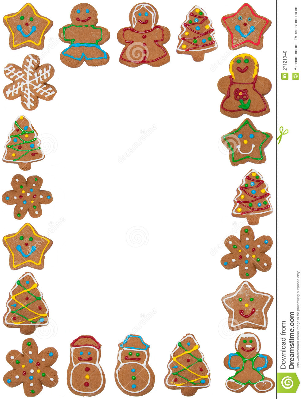 Vertical Frame Of Colorful Gingerbread Cookies Stock Photo ...