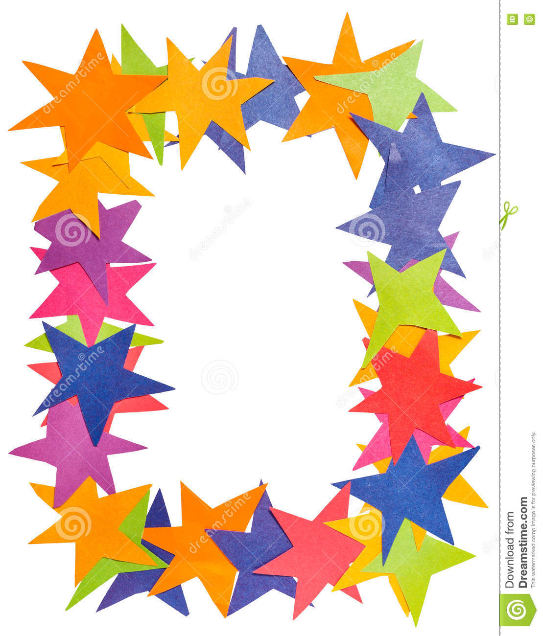 Vertical frame from paper stars