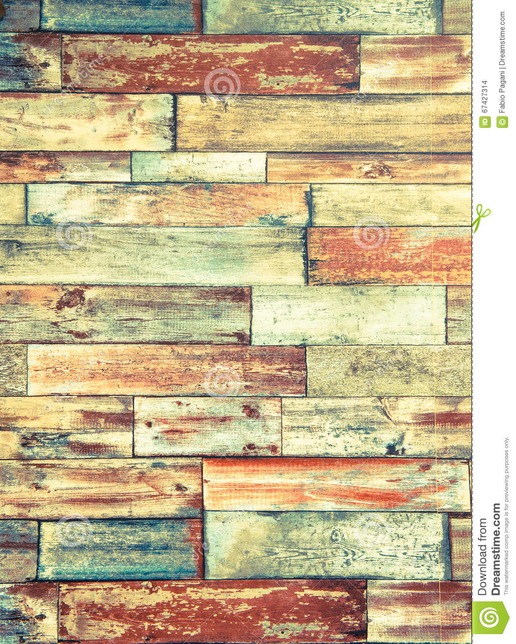 Vertical Frame Of Psychedelic Colorful Brick Wall Background Stock ...