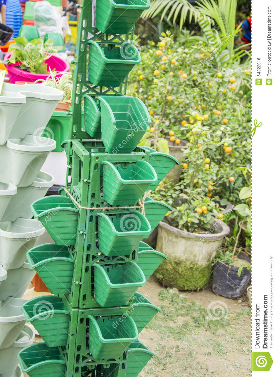 Vertical Garden Pot Vertical garden pots stock photo image of vertical potted 54822016 workwithnaturefo