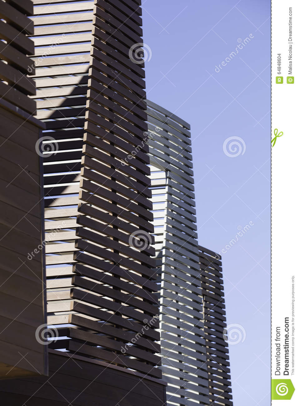 Vertical And Horizontal Line Details In Architecture On A Buildi Stock Photo