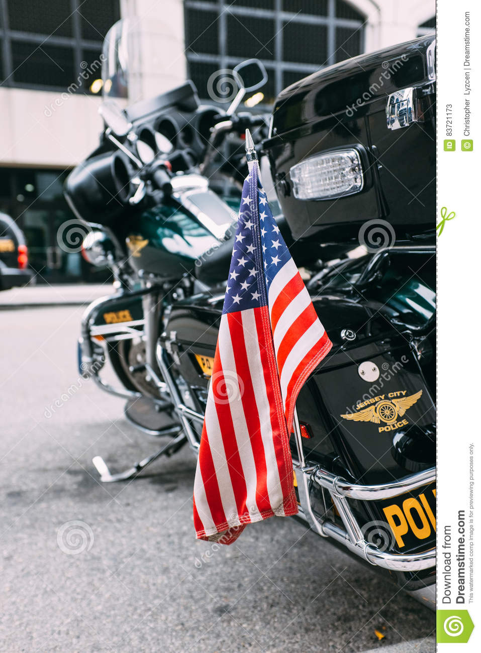 9/11/2012 - Vertical Image Of Police Bike Editorial Stock Photo