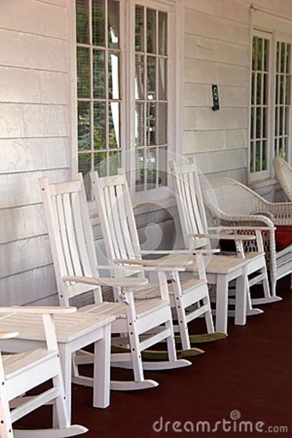 Prime Vertical Image Of White Rocking Chair On Country Porch Stock Inzonedesignstudio Interior Chair Design Inzonedesignstudiocom
