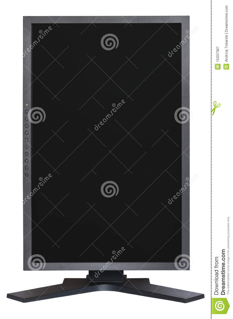 vertical lcd monitor royalty free stock photography