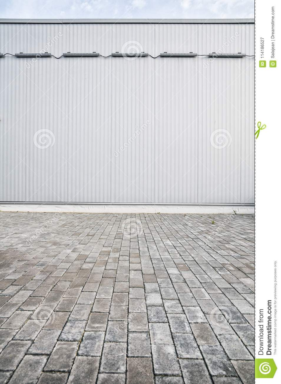 Metallic Sheet On A Modern Industrial Building Stock Image
