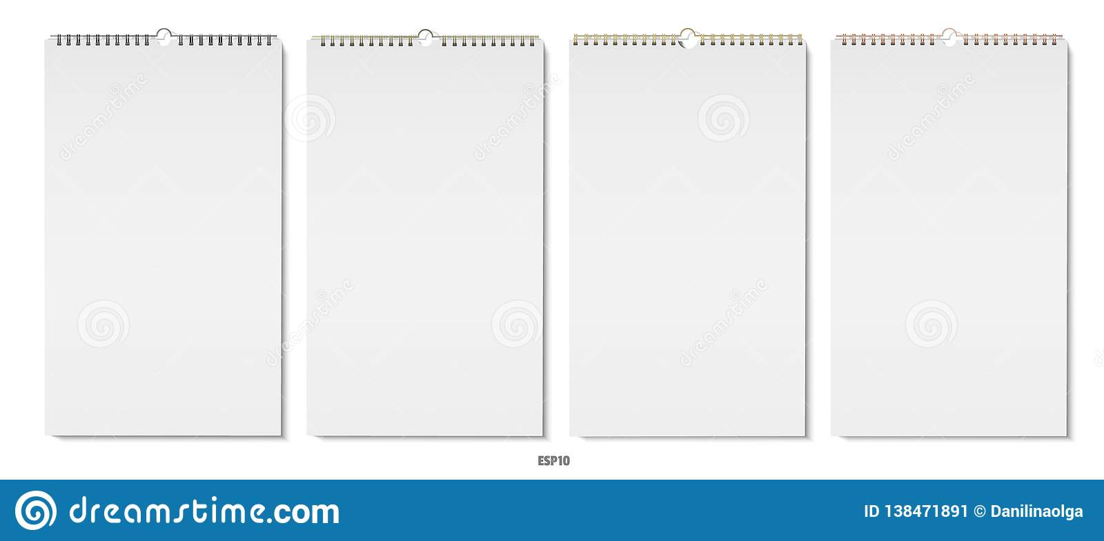 Vertical note pads vector