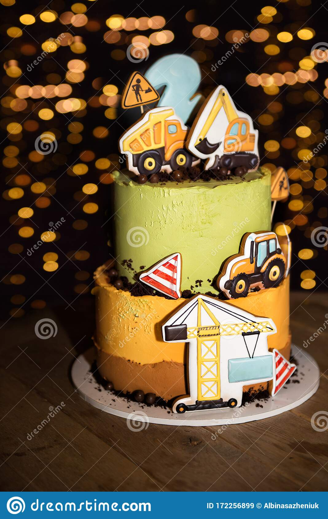 Cool Vertical Picture Of Colorful Birthday Cake For 2 Years Old Boy Funny Birthday Cards Online Hendilapandamsfinfo