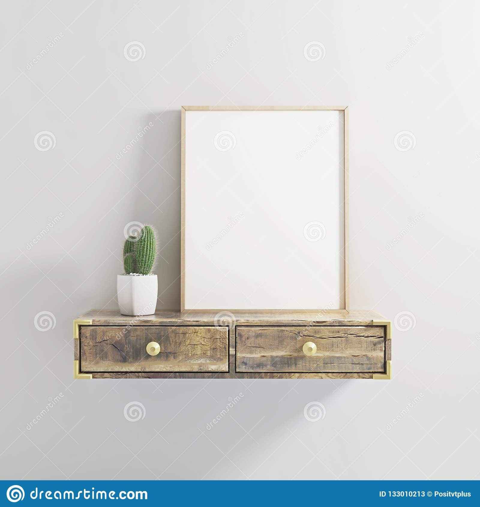 22f605810a6f Poster frame mockup modern style 3d illustration. More similar stock  illustrations