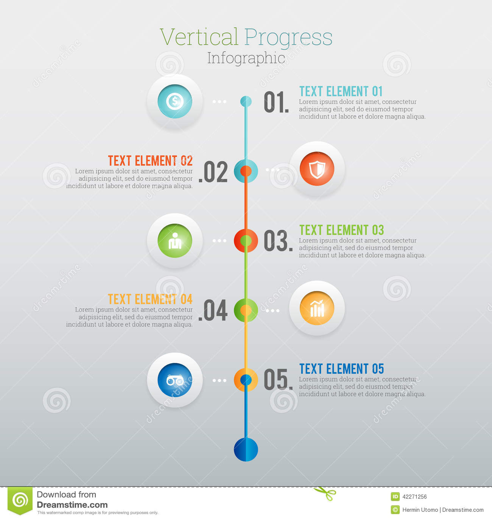 vertical progress infographic stock vector - illustration of
