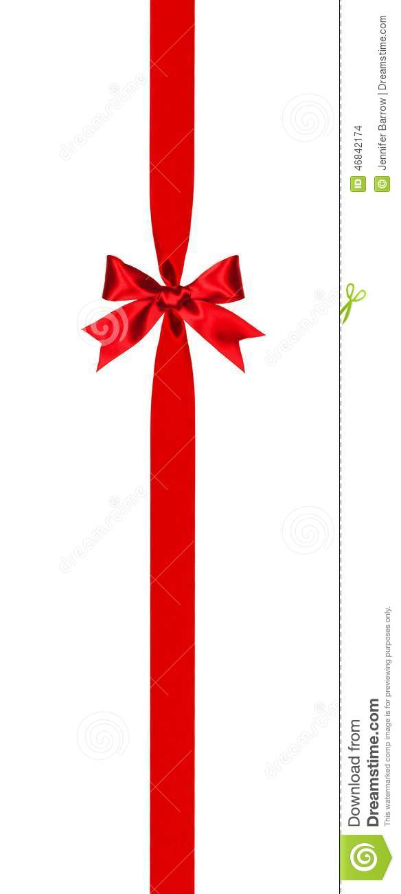 Vertical Red Bow And Ribbon Border Stock Photo - Image ...