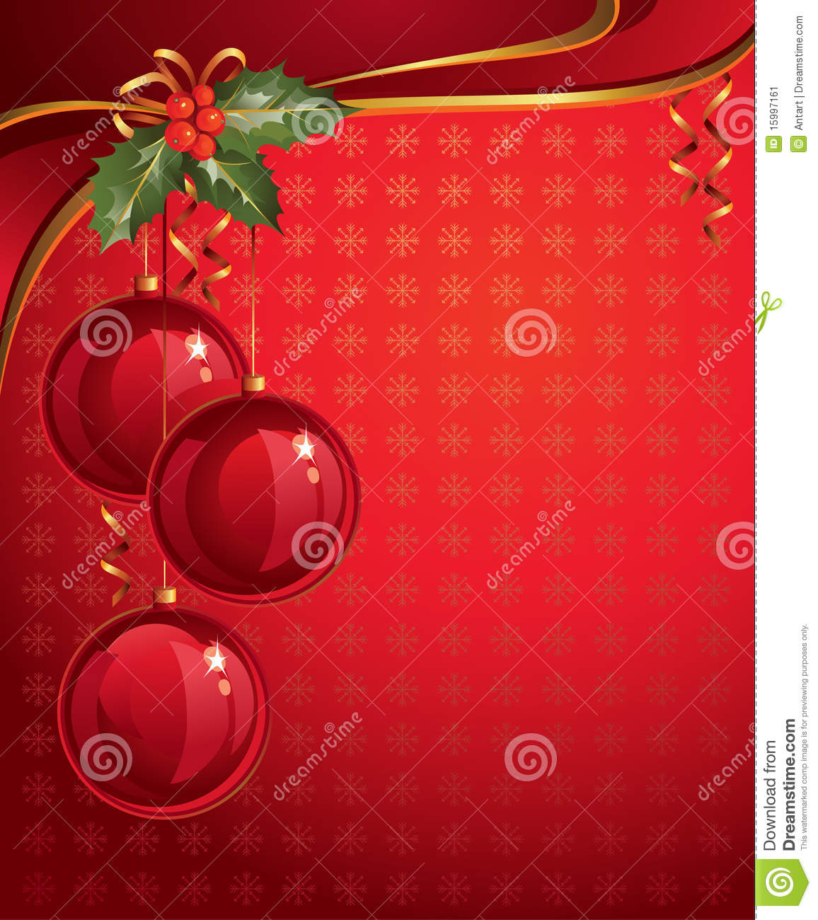 Vertical Red Christmas Backdrop Stock Image - Image: 15997161