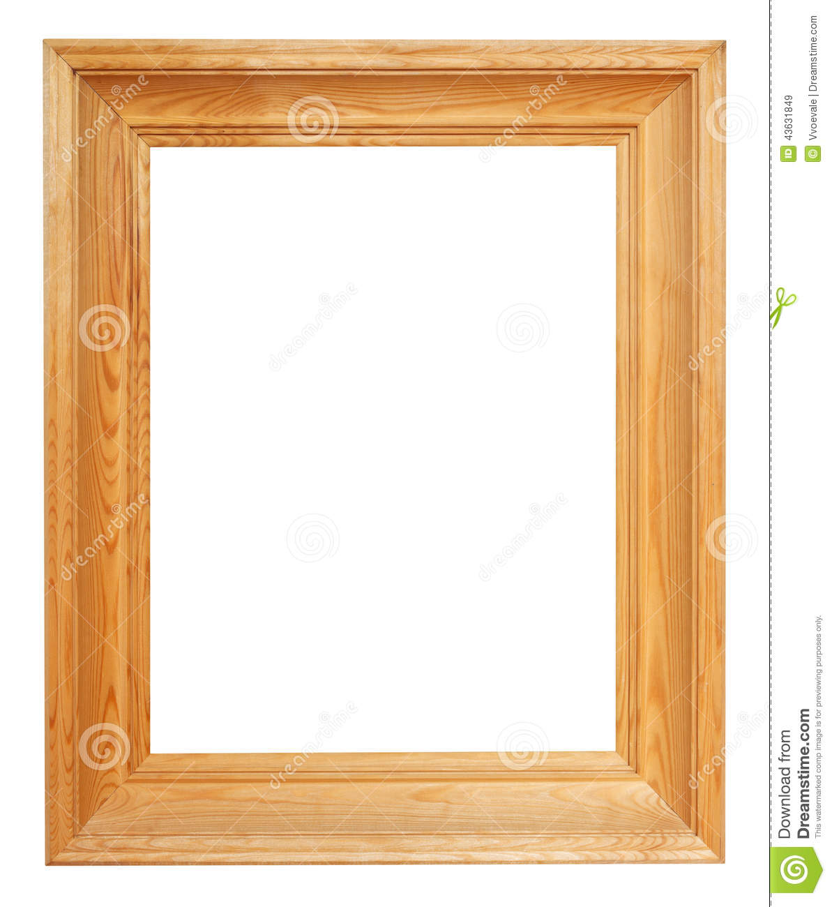 Vertical Simple Wide Brown Wooden Picture Frame Stock Image - Image ...